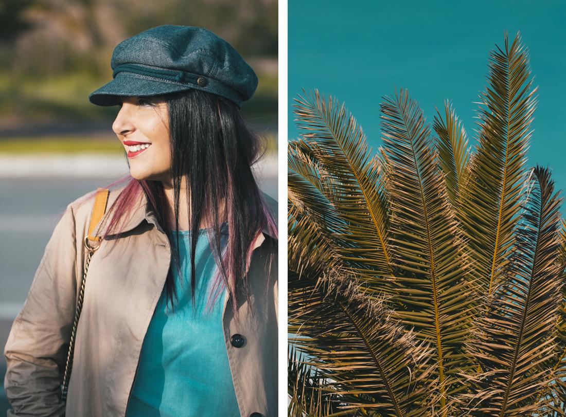 Sandra Bacci- palma- sorriso- cappello con visiera Brixton