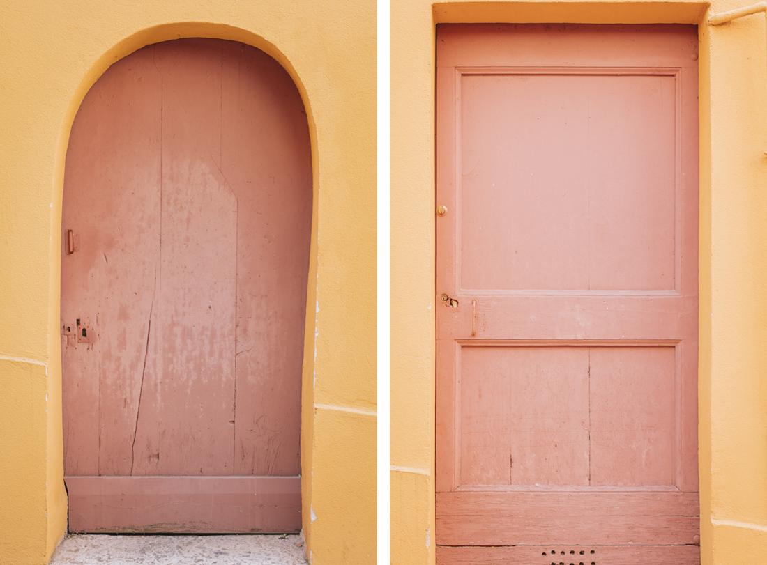 dettagli porte colorate