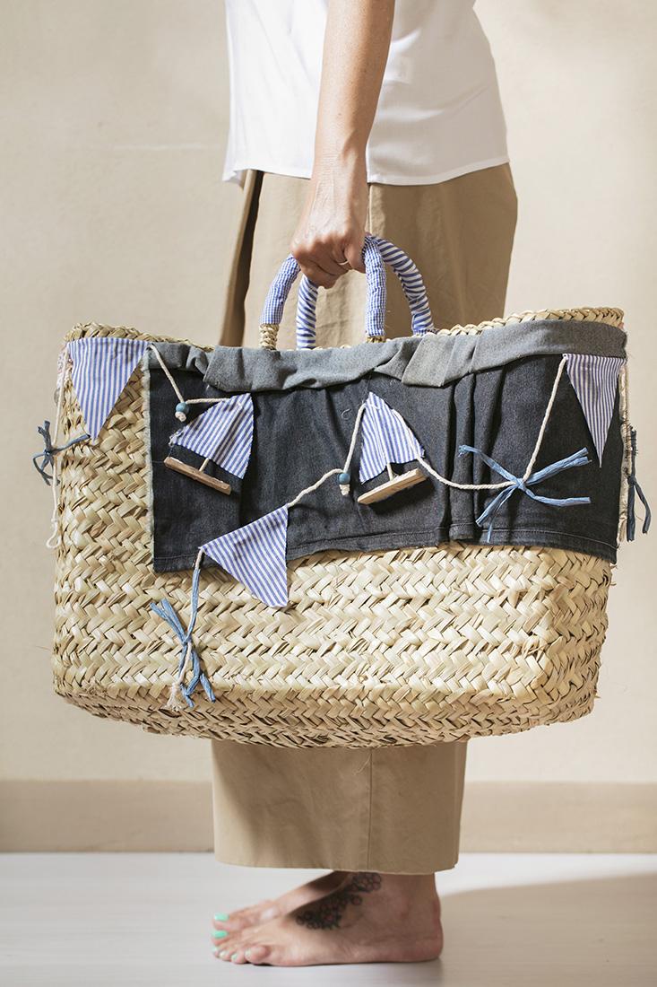 borsa in paglia da spiaggia