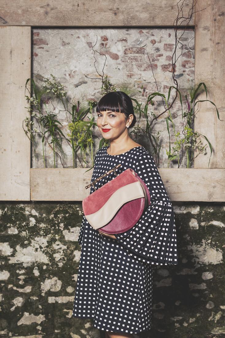 Villatrentuno, Sandra Bacci con borsa Villatrentuno