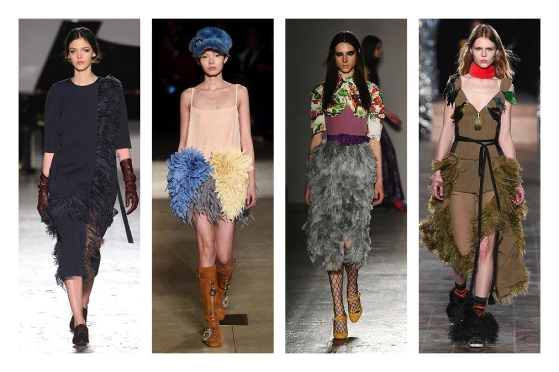 cosa indosseremo questo autunno inverno 2016 2017 , piume