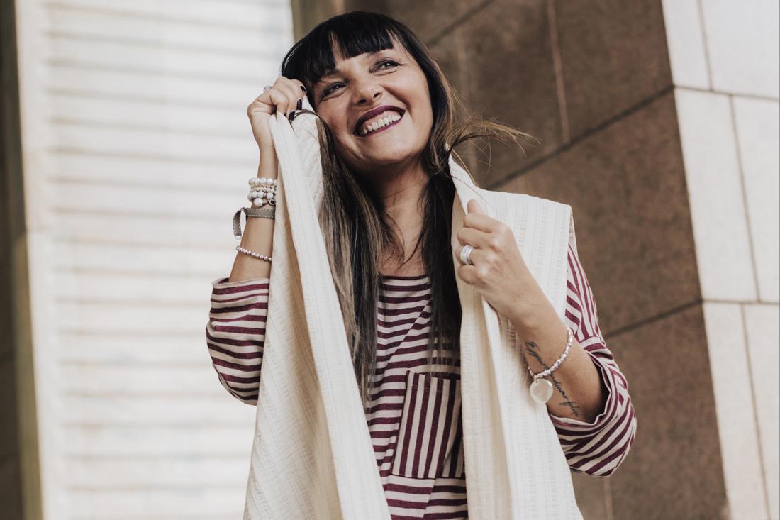 Sandra Bacci, smiling