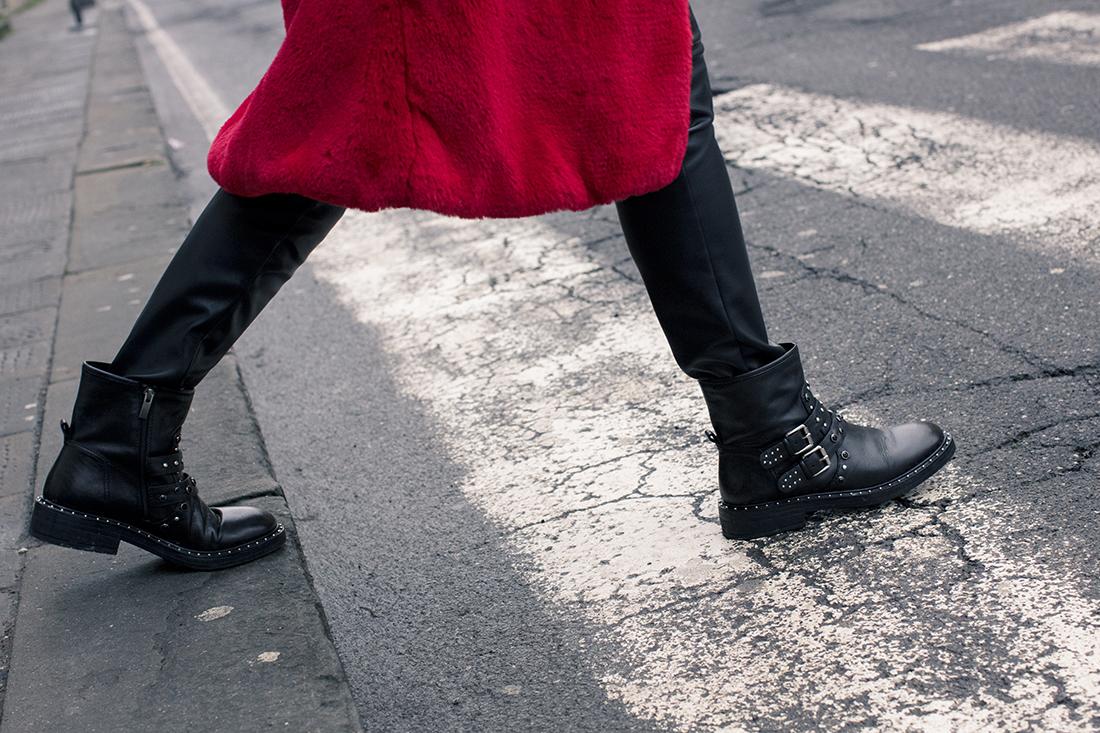 Sandra Bacci, biker boots Bruno Premi
